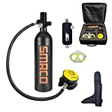 WJSX SMACO Scuba Diving Tank Equipment, Mini Scuba Dive Cylinder with 12-20 Minutes Capability,...