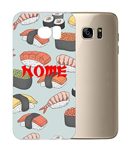 Vestin Cover Personalizzata per Tutti i Modelli Samsung - Sushi- Trasparente UltraSottili AntiGraffio Antiurto Case Custodia (Samsung Galaxy S4, Trasparente)