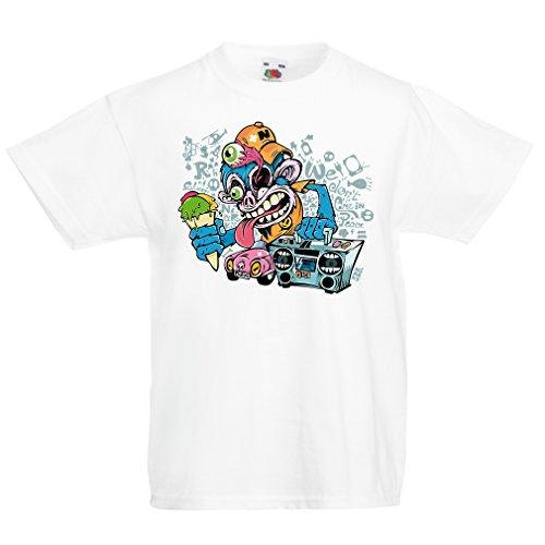 lepni.me Camisas para niños The Funky Monkey DJ - 80s, 90s, música...
