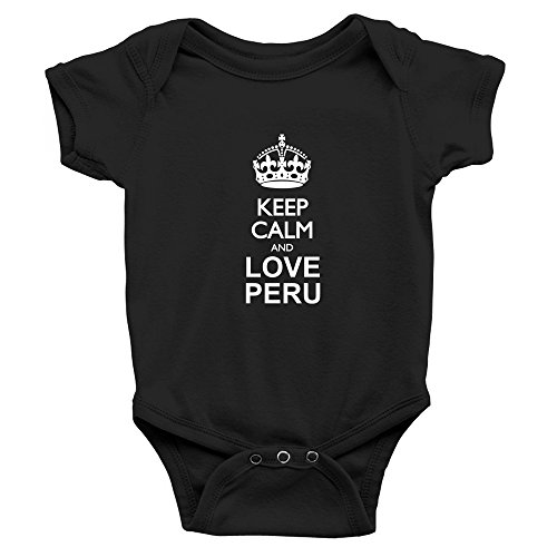 Teeburon Keep Calm and Love Peru Body de bebé