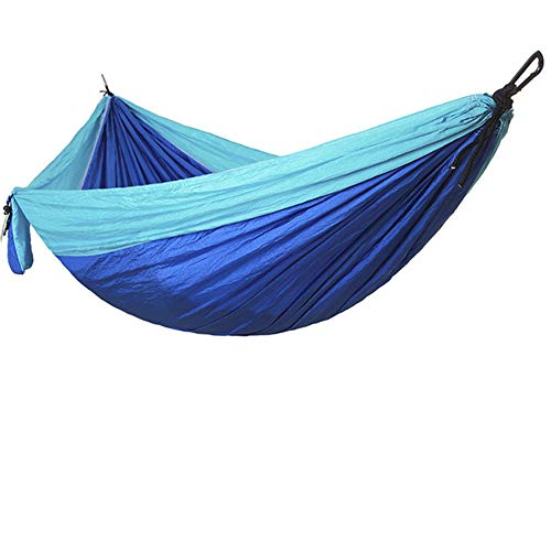 Camping Hammock Double Portable Hammocks,Nylon Parachute Hammocks for Backpacking,Travel,Beach,Backyard,Patio,Hiking (Blue,270140CM)
