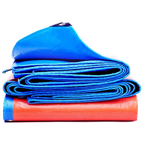 WSZS Dicke Tarpen Wasserdicht, UV Blockierende Schutzabdeckung Umkehrbare Laminierte Beschichtung Rostfreie Tücher Mehrzweckschutzplane,2x1m