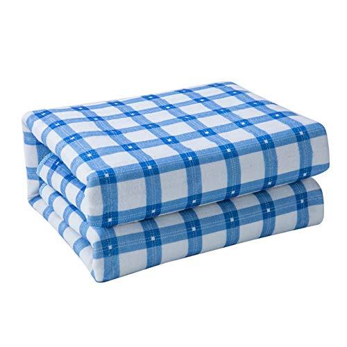 HEN'GMF Wärmeunterbett, Und Überhitzungsschutz, Heizunterbett mit 2 Temperaturstufen, Für Alle Gängigen Matratzen, Waschbar, Blau,L
