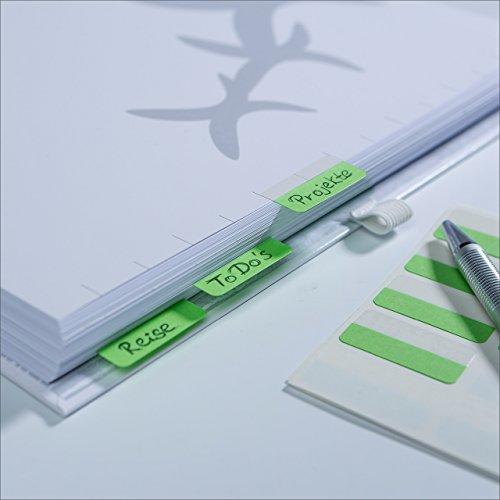 Schaar-Design flexiNotes REGISTER, 10 Register in flexiNotes-Optik, für Ordner, Ringbücher, Mappen, 250 g/m², inkl. 12 selbstklebende Tabs zur individuellen Beschriftung, Typ: 10 Stück, DIN A5
