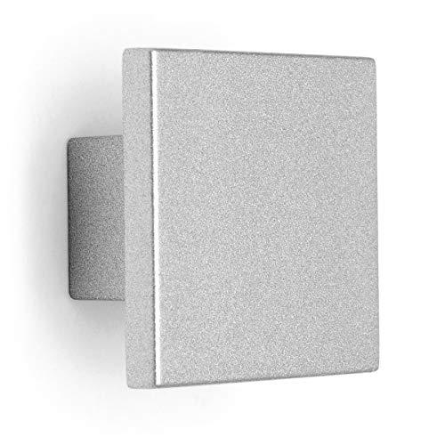 Pomolo quadrato effetto alluminio 30x30x19mm - 022Q Quadro