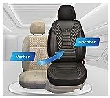 Fundas de asiento compatibles con Mercedes Vito W447, conductor y copiloto, número de color: PS804.