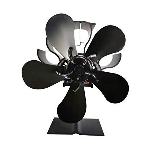 WFDG Kamin Fan Holzofen oder Pelletofen effektiv Dispergierwerkzeuge Warmluft um Raumelektroherd Ventilator H12.1