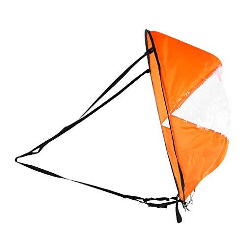 Pwshymi Paleta de Viento Plegable de Vela de Alta Transparencia portátil Ultraligera para Canoa