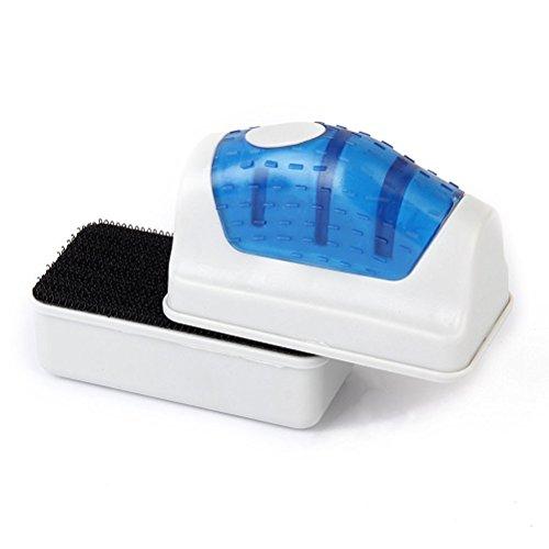 Ueetek - Imán flotador para acuario de cristal, limpiador con cepillo -Talla S