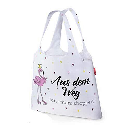 Bavaria-Home-Style-Collection Shopping Tasche - Einkaufstasche - Schultertasche - Henkeltasche mit Motiv und Sprüche Auswahl - Beste Mama UVM. - Geschenk Idee (Aus dem Weg Ich muss Shoppen)