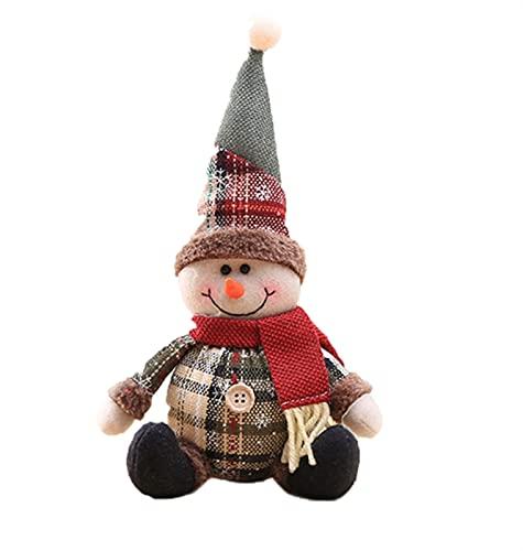 Pap Noel que adorna los alces caseros adornos navideos Decoracin del rbol de Navidad (Color : A, Size : 24 * 12.6cm)
