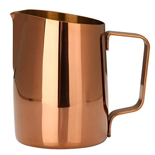 Dianoo Brocco Fumante Per Cappuccino Brocca Per Il Latte Espresso Acciaio Inossidabile Tazza Di Caffè Latte Art 420ml Oro