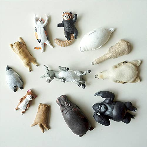 LIANYG Oso Polar Gorilla Seals imanes de Nevera de Animales Pegatina de Pizarra imanes de Nevera decoración del hogar