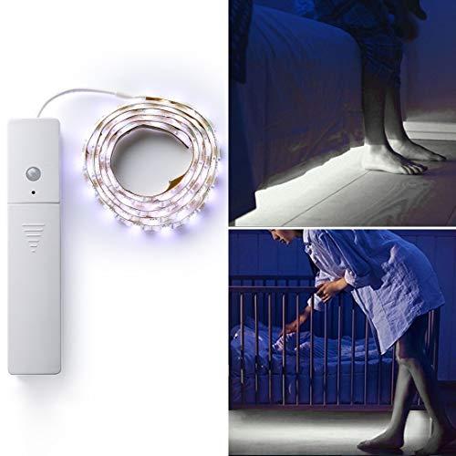 CZ 1PCS 60 Leds SMD 5050 del Sensor de Movimiento PIR del Cuerpo Humano Luz de Tira de la lámpara, Longitud: 1m, DC 5V (Color : White Light)