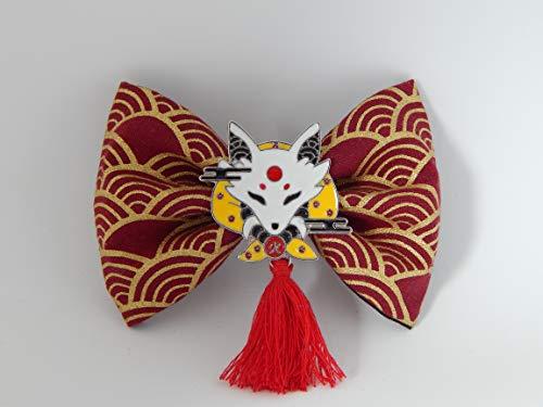Haarschleife im Japan Stil, Haarspange, Haaklammer, Fuchs, Haarschleife, Yukata, Cosplay