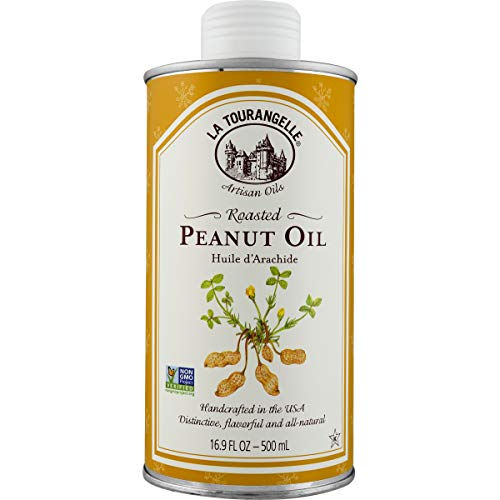 La Tourangelle Roasted Peanut Oil 16.9 Fl. Oz., Rich Flavorful Peanut Oil, Great in African and Asian Cooking or as a Dressing