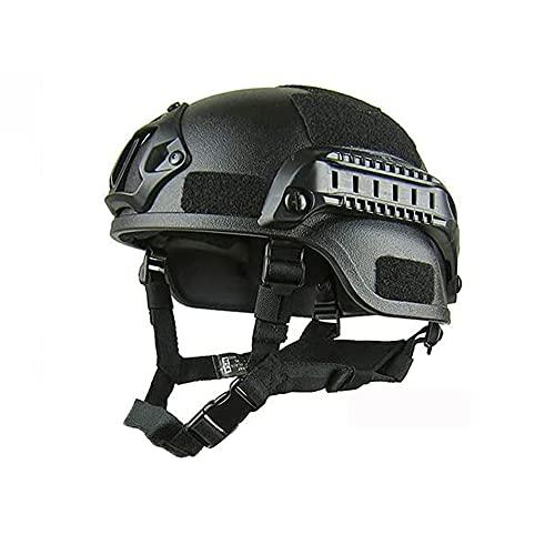 ZXJJD Casco rápido de Combate SWAT de Estilo Militar táctico Casco balístico rápido, para Airsoft Paintball Caza Disparos Deportes al Aire Libre B