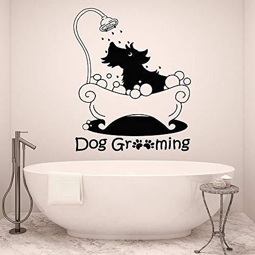 Calcomanía de Pared para Perro, salón de Lavado de Mascotas, Tienda de Mascotas, decoración Interior, Vinilo, Adhesivo para Pared, 48x58cm