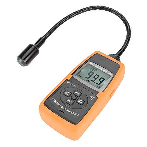 Combustible Gas Detector,brennbarer Gasmelder SPD202 / EX Digitales brennbares Gasmessgerät Natürliches LPG Kohle Alarm Tester Meter Werkzeug mit koffer,Auflösung: 0,1% UEG, 10 ppm