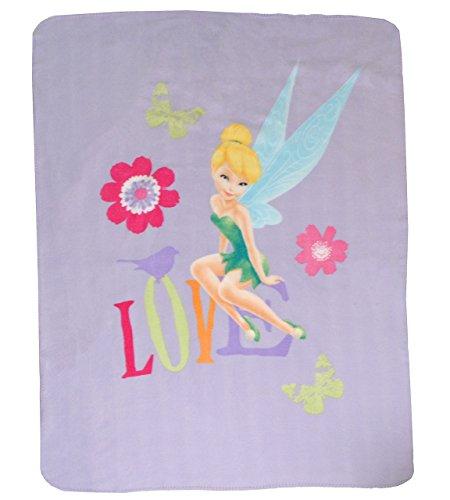 alles-meine.de GmbH Fleecedecke - Disney Fairie Tinkerbell - 110 cm * 140 cm - Decke aus Fleece Kuscheldecke / für Mädchen - Kinder Plaid Kinderdecke - Schmusedecke - Fairy Feen ..