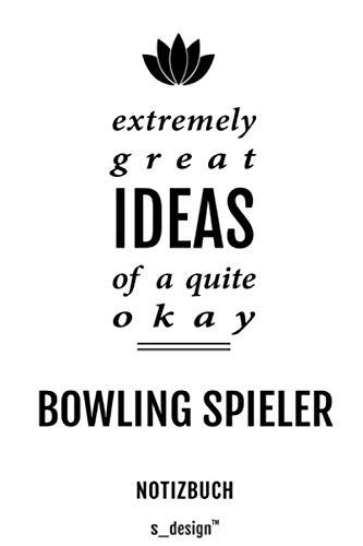 Notizbuch für Bowling Spieler: Originelle Geschenk-Idee [120 Seiten gepunktet Punkte-Raster blanko Papier]