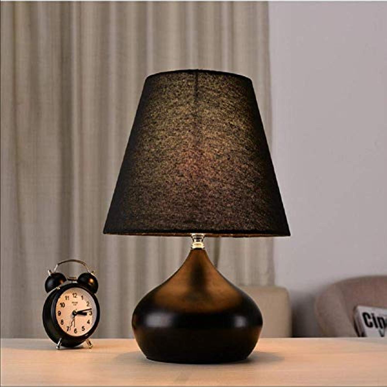 Xiao Yun   Kreative Persnlichkeit Tischlampe Schlafzimmer Nachttischlampe Tischlampe schwarz und wei (Farbe  SCHWARZ)