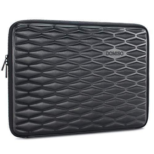 DOMISO Laptop-Schutzhülle, stoßfest, wasserdicht, leicht, Hartschale, für Apple/Asus/Acer/Lenovo/Dell/HP/MSI schwarz Schwarz 15 - 15.6 Inch