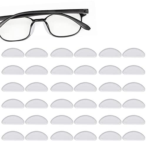 Clyhon 20 Pares de Gafas Almohadillas de Nariz de Silicona Almohadillas Adhesivas Antideslizantes, Protector de Nariz de Gafas Vasos Adhesivos de para Gafas Gafas de Sol (1.5mm Transparente) ⭐