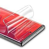 RIWNNI [3 Stück Schutzfolie für Samsung Galaxy Note 10, Ultra Dünn Weiche TPU Bildschirmschutzfolie (Nicht Panzerglas), HD Klar Bildschirmschutz Folie Full Screen für Samsung Galaxy Note 10 - Transparent