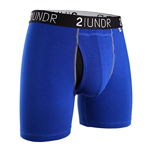 2UNDR Men's Swing Shift Boxers (Blue/Blue, X-Large)