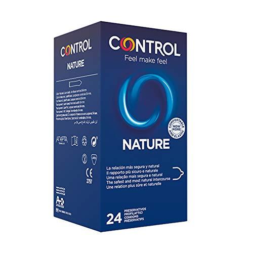 Control Nature - Caja de Condones gama natural, lubricados, ajuste perfecto, sexo seguro, 24 unidades (pack ahorro)