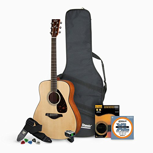 Yamaha FG800 Acoustic Guitar - Natural Bundle with Gig Bag and Accessories...