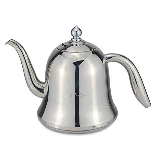 FHISD Tetera de Acero Inoxidable 304 de 600 ml con Filtro de Acero Inoxidable 304 Que se Puede Calentar con Cocina de inducción y Estufa de Gas 1yess Taza de té
