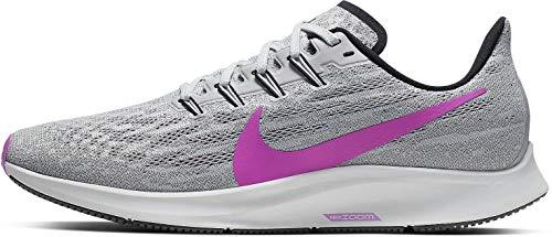 Nike Men's Air Zoom Pegasus 36 Competition Running Shoes, Multicolour (Pure Platinum/Hyper Violet/Cool Grey 7), UK