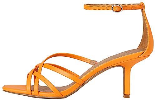 Marca Amazon – find. Saige-s-1a-09 – Sandalias con punta abierta Mujer