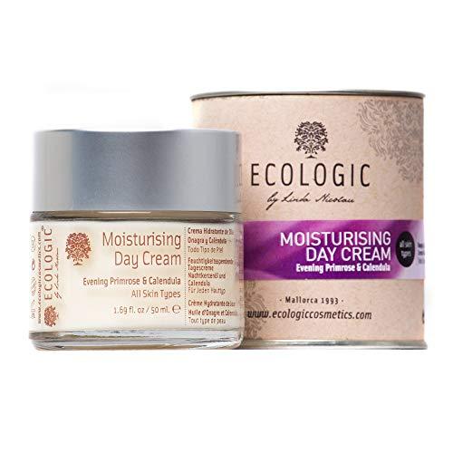 Crema Facial Hidratante de Día (Onagra y Caléndula) - 50 ml. Ecologic Cosmetics by Linda Nicolau. Bio cosmética sostenible, vegana, orgánica, ecológica, eco friendly y climate friendly