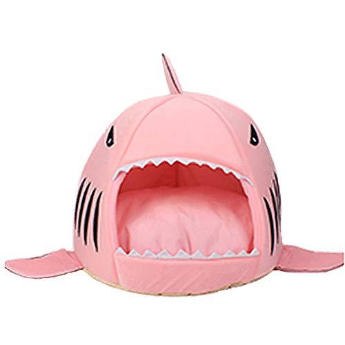 JLUYT Mascota Waterloo Cama para Perros Lavable Cómoda Almohada De Nido De Algodón Artículos para Mascotas Últimos Productos para La Casa De Tiburones Casa para Perros Cálida Y SuavePink-42 * 42cm