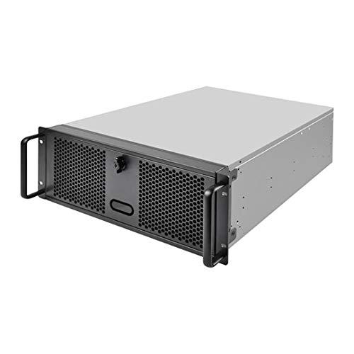Silverstone SST-RM400 - Chasis para Servidor de Montaje en Rack de 4U, admite hasta SSI-CEB mainboard y ATX (PS2) / Mini PSU redundante