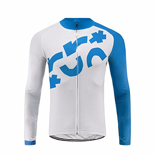 Uglyfrog Maillot Cyclisme Homme avec Manches Longues,Maillot Cycliste Homme,Maillot Vélo Long avec Poches
