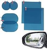 DORUOD 6pcs Car Mirror Film, Waterproof Rainproof Car Rearview Film Anti-Glare Anti Flare Anti Fog Mirror Film for Car Mirror and Side Windows
