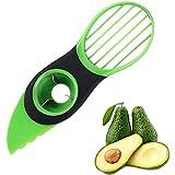 BESTDELI Taglierina per Avocado 3 in 1 taglierina per Frutta Verde taglierina per Frutta pelapatate, Gadget da Cucina per la Protezione dell'avocado Fresco per la Cucina di casa