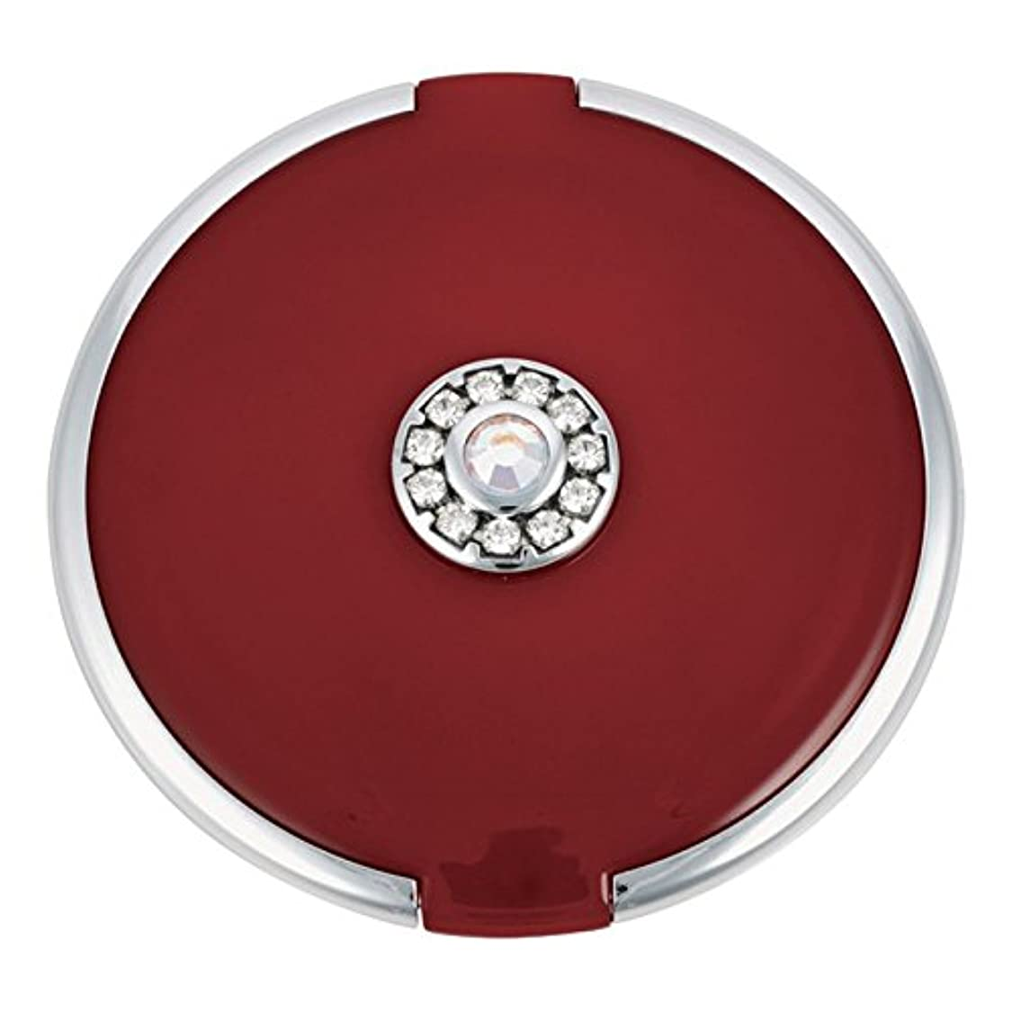 ラッカス飼い慣らす分岐するジョン?ルイスラウンド銀トリム結晶が赤いコンパクトミラーを設定します (John Lewis) (x6) - John Lewis Round Silver Trim Crystal Set Compact Mirror Red (Pack of 6) [並行輸入品]