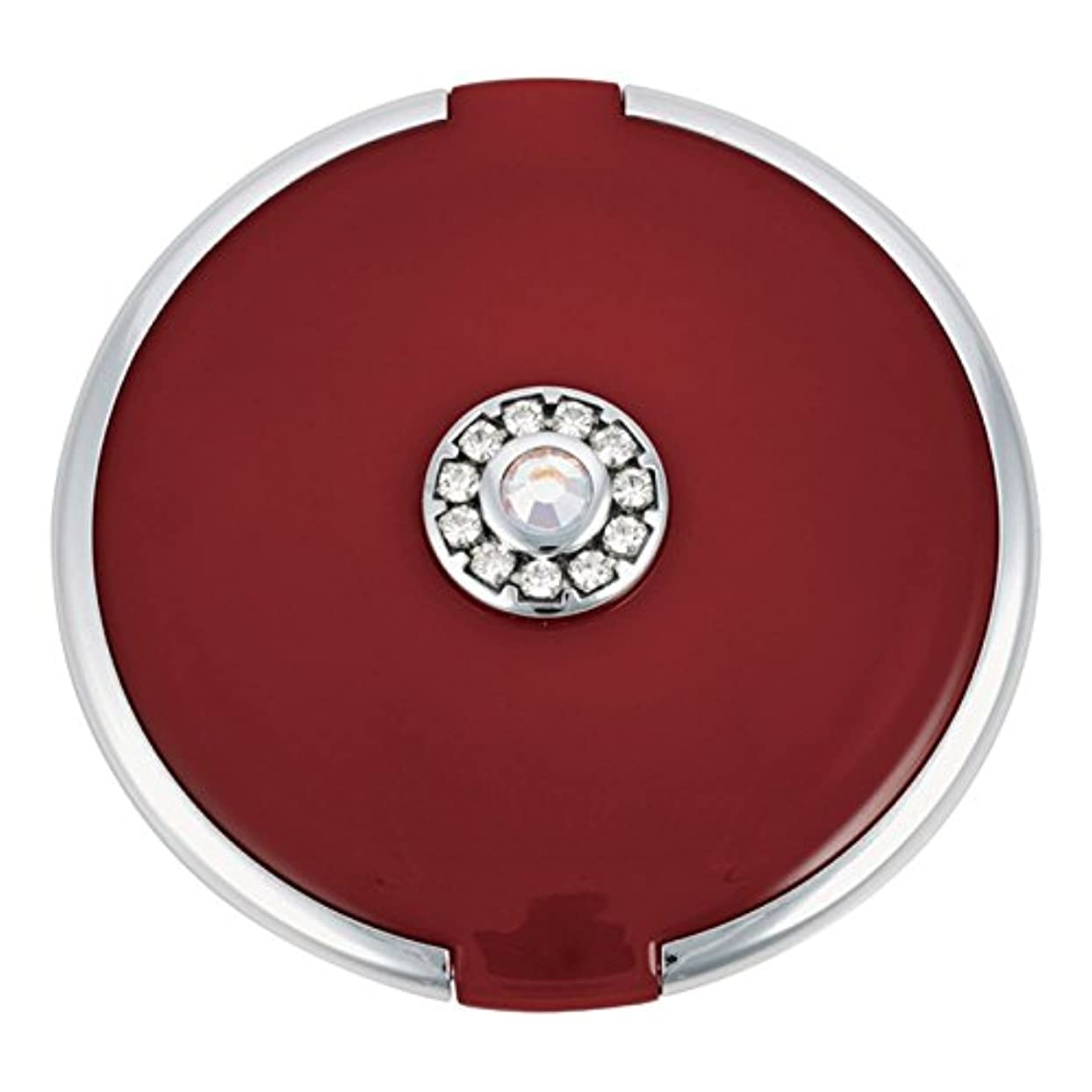 月曜日できればエジプト人ジョン?ルイスラウンド銀トリム結晶が赤いコンパクトミラーを設定します (John Lewis) - John Lewis Round Silver Trim Crystal Set Compact Mirror Red [並行輸入品]