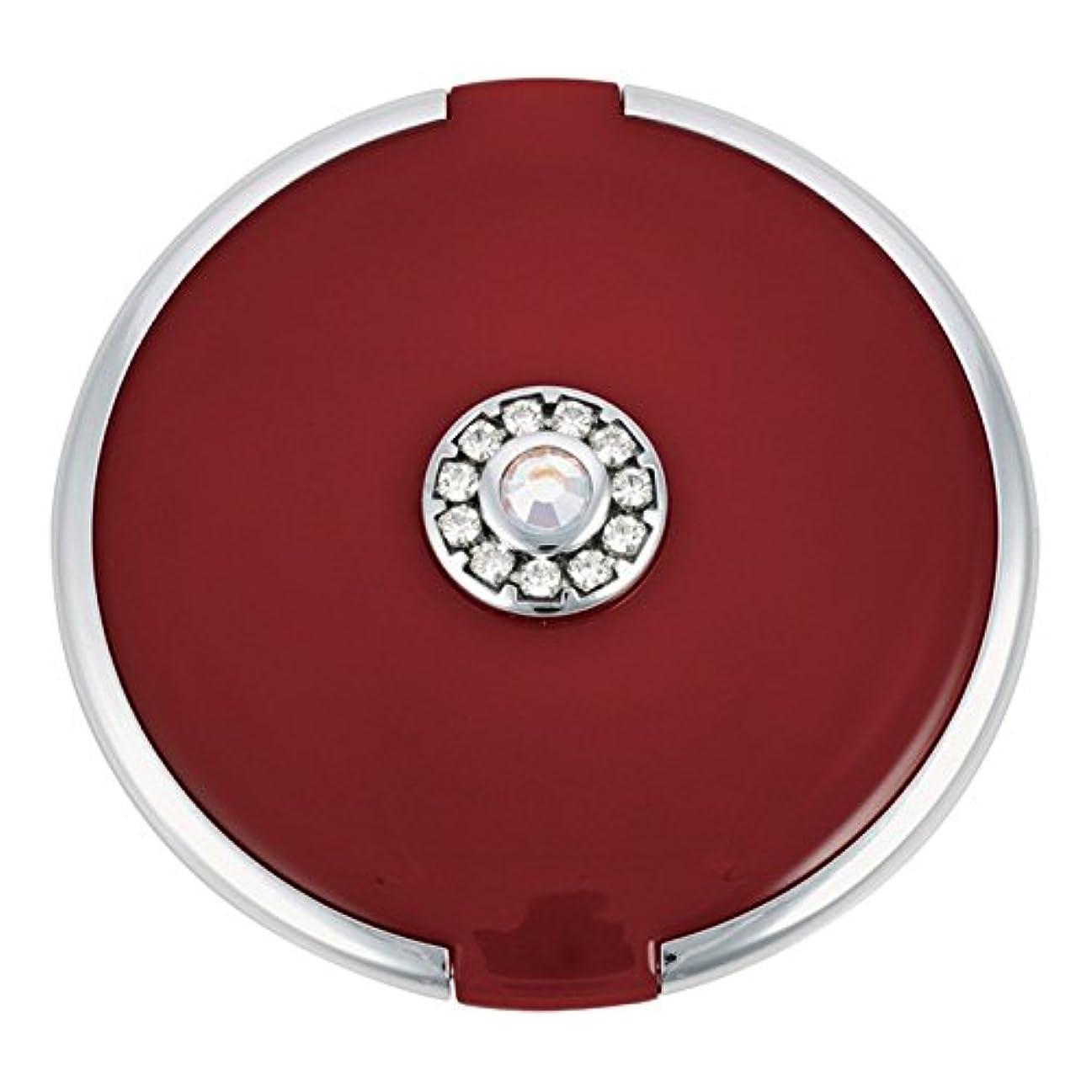 雇用者デイジーポップジョン?ルイスラウンド銀トリム結晶が赤いコンパクトミラーを設定します (John Lewis) - John Lewis Round Silver Trim Crystal Set Compact Mirror Red [並行輸入品]