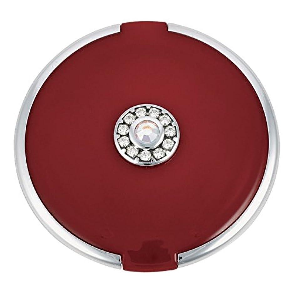 著名な上げる有害ジョン?ルイスラウンド銀トリム結晶が赤いコンパクトミラーを設定します (John Lewis) - John Lewis Round Silver Trim Crystal Set Compact Mirror Red [並行輸入品]