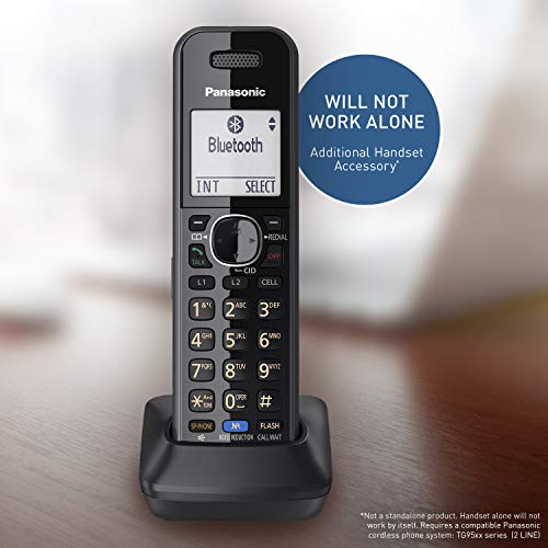 Panasonic DECT 6.0 Plus Cordless Phone Handset Accessory Compatible with 2-Line Cordless Phones KX-TG95xx Series Business telephones, Headset Jack - KX-TGA950B (Black)