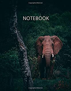 Notebook. For Elephant Lovers. Blank Lined College Ruled Notebook Journal Planner Diary.