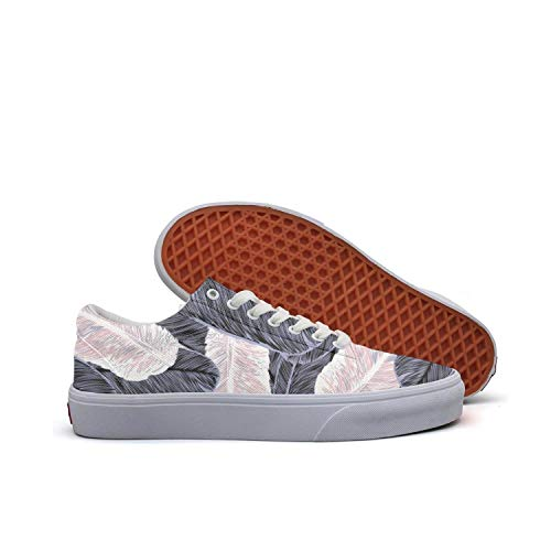 Sernfinjdr Casual lace-up Canvas Shoes for Women Big Feathers Best Cycling Sneakers