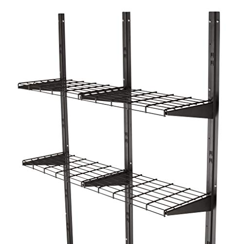 Suncast Dual Shelving Extension Kit for Storage Sheds, Black -  BMSA1S