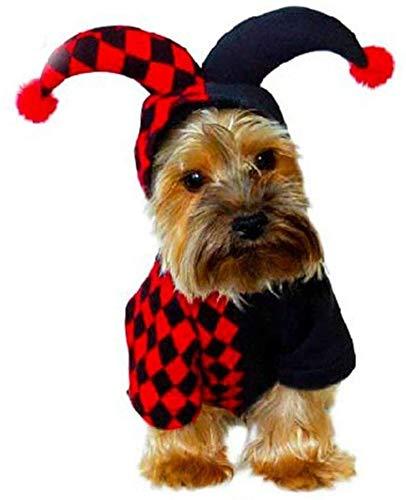 Ropa Perro Camisa linda del animal doméstico de Todos los Santos del espíritu maligno de perrito del perro de perrito Mush Arrastre Ropa Pet Products SLZFLSSHPK ( Color : Red , Size : Medium )